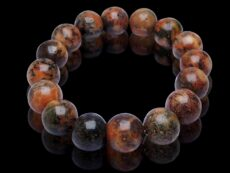 Natural Fire Agate Healing 12 mm Beads Bracelet for Grounding